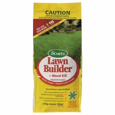 Scotts Lawn Builder with Weed Kill